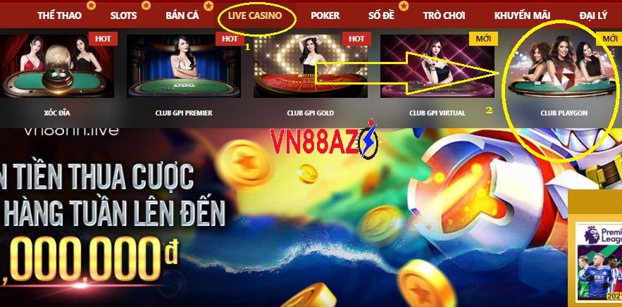 Cach choi Playgon live casino tai Vn88